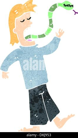 Retro cartoon with texture. Isolated on White. - Stock Photo
