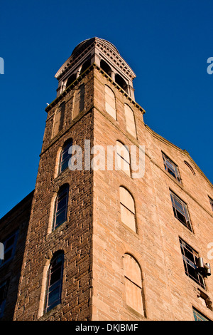 The 1800`s Jute Mill with bell tower once owned by the Baxter Brothers and where Mary Slessor worked in Dundee, - Stock Photo