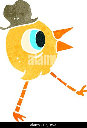 Retro cartoon with texture. Isolated on White. - Stock Photo
