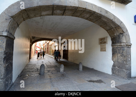 The large archway (arco do Telles) in Rio de Janeiro, Brazil. - Stock Photo