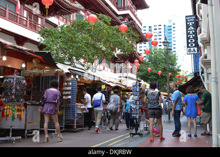 Sago Street, Chinatown, Singapur - Stock Photo