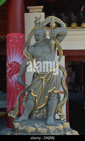 Steinfigur, Buddha Tooth Relic Temple, South Bridge Road, Singapur - Stock Photo