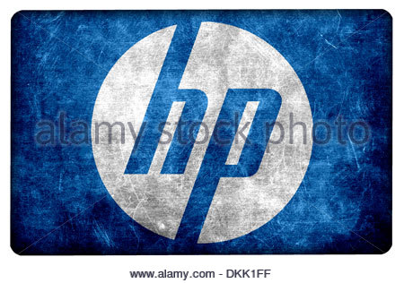 Grunge Hewlett Packard Logo Icon App Flag Stock Photo 63727865 Alamy