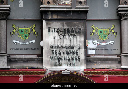 Fitzgerald and Co Ltd Sign in Dublin - Stock Photo