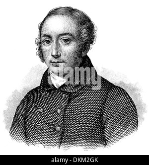 Portrait of Antoine Pierre Berryer, 1790 - 1868, a French advocate and parliamentary orator, - Stock Photo