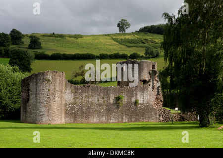 Exterior view of Skenfrith Castle, Skenfrith, near Monmouth - Stock Photo