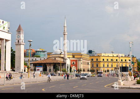 Skanderbeg Square, Tirana, Albania - Stock Photo