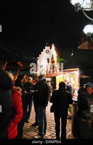 People on the christmas market - Stock Photo