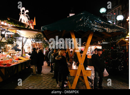 Stand on the Christmas market - Stock Photo