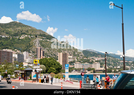 Water front of Monaco, sovereign city-state, French Riviera, Western Europe - Stock Photo
