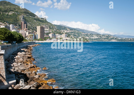 Beauty seaside,waterfront, Monaco, sovereign city-state, French Riviera, Western Europe - Stock Photo