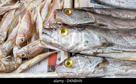 Fish (mackarel) on sale at the wet market 'Red Market' in Macau (Macao), SAR of China - Stock Photo