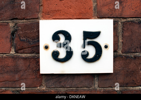 Number 35 house number - Stock Photo