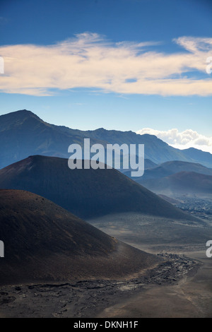 USA, Hawaii, Maui, Haleakala National Park, cinder cones inside Haleakala Caldera - Stock Photo