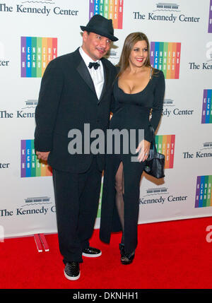 Washington DC, USA. 7th Dec, 2013. Mix Master Mike and Diane Copeland arrive for the formal Artist's Dinner honoring - Stock Photo
