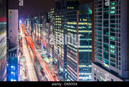 Seoul, South Korea cityscape. - Stock Photo