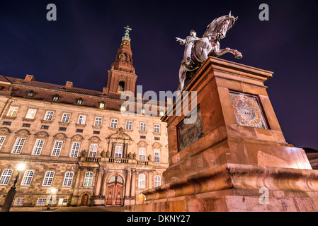 Christiansborg Palace in Copenhagen, Denmark. - Stock Photo