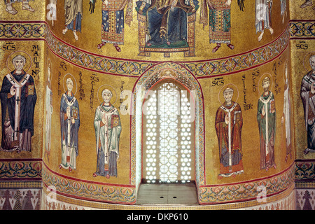 Monreale Cathedral, Monreale, Sicily, Italy - Stock Photo