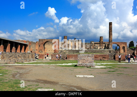 Temple of Jupiter, Pompeii, Campania, Italy - Stock Photo