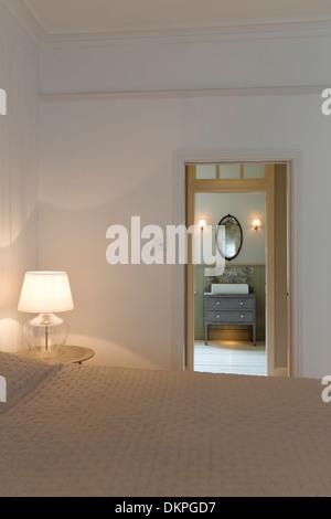 Doorway in modern bedroom - Stock Photo