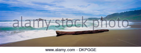 Waves on beach - Stock Photo