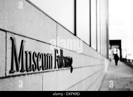 Main entrance of the new Museum Folkwang in Essen, the Ruhr, Germany, Europe - Stock Photo