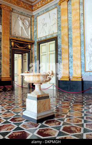 Room of Mars, Royal Palace of Caserta, Campania, Italy - Stock Photo