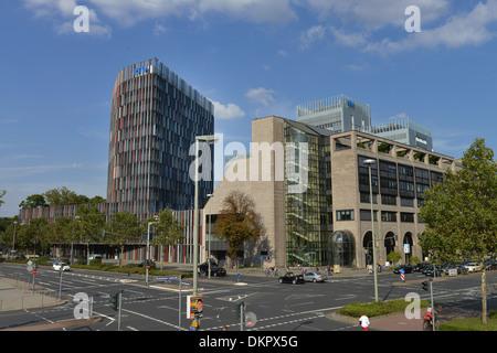KFW, Bockenheimer Landstrasse, Zeppelinallee, Frankfurt am Main, Hessen, Deutschland - Stock Photo