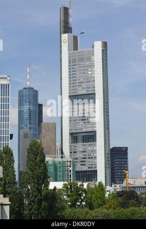Commerzbank Tower, Große Gallusstrasse, Frankfurt am Main, Hessen, Deutschland - Stock Photo