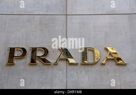America avenue city designer emblem Fifth company logo fire in Italian store retail shop Manhattan brand brand Midtown - Stock Photo