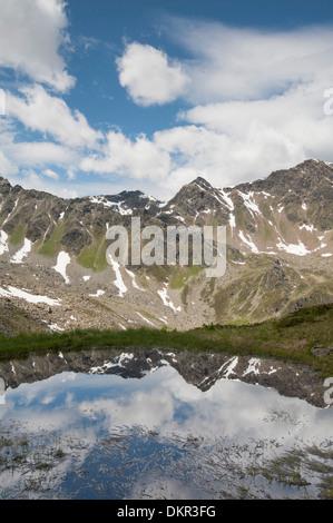 Europe Tyrol Tirol uplands Austria Alps alpine mountain mountain landscape mountain lake water idyll mountainous - Stock Photo