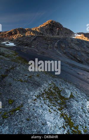 Ofoten Northern Europe Norway water Europe Scandinavia Scandinavian alpine mountain mountain landscape mountain - Stock Photo
