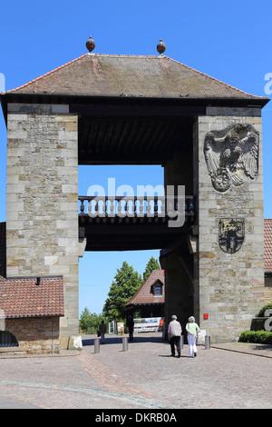 Deutsches Weintor Schweigen Rechtenbach  German Wine Gate - Stock Photo