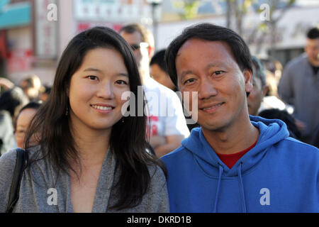 Feb 28, 2010 - Los Angeles, California, USA - MICHAEL CHANG, a former U.S. professional tennis player and his wife - Stock Photo