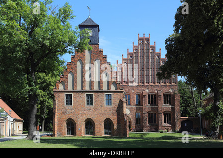 monastery cloister Zinna  Old and New Abbey - Stock Photo