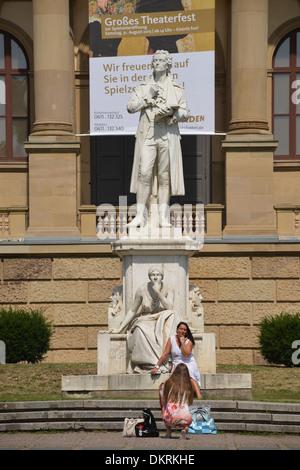Hesssiches Staatstheater, Christian-Zais-Strasse, Wiesbaden, Hessen, Deutschland - Stock Photo