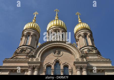 Russische Kirche, Neroberg, Wiesbaden, Hessen, Deutschland - Stock Photo