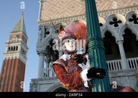 Woman in carnival costume, Venice, Italy - Stock Photo