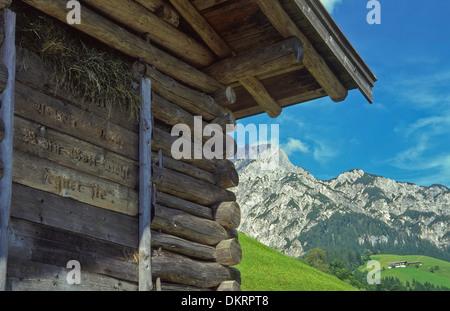 Europe Austria Austria Salzburg Salzburg country Lofer Salzach Wildenthal Wildental St. Martin mountain mountains - Stock Photo