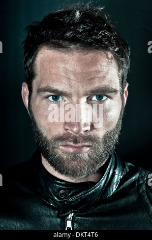 Man with Beard, Portrait - Stock Photo