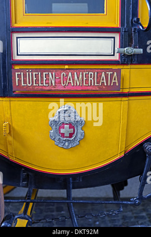 Europe Switzerland CH Zurich Old Town Museumstrasse Swiss national museum stagecoach coach No. 880 Gotthard post - Stock Photo