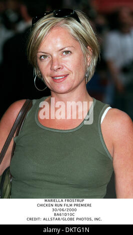 June 30, 2000 - MARIELLA FROSTRUP.CHICKEN RUN FILM PREMIERE.30/06/2000.BA61D10C.CREDIT:(Credit Image: © Globe Photos/ZUMAPRESS.com) - Stock Photo