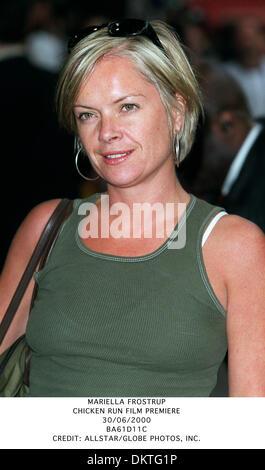 June 30, 2000 - MARIELLA FROSTRUP.CHICKEN RUN FILM PREMIERE.30/06/2000.BA61D11C.CREDIT:(Credit Image: © Globe Photos/ZUMAPRESS.com) - Stock Photo