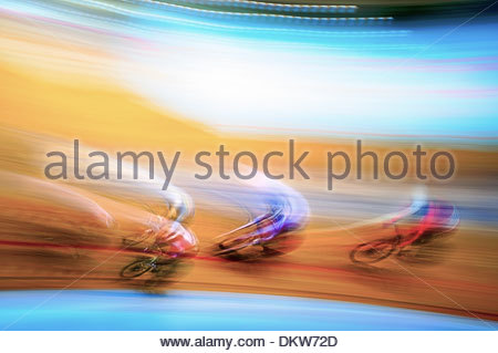 Manchester, 3rd November - Cyclists in action on day three of the UCI Track Cycling World Cup in Manchester.  - Stock Photo