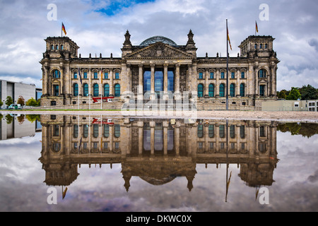 German Parliament Building Reichstag in Berlin, Germany. - Stock Photo