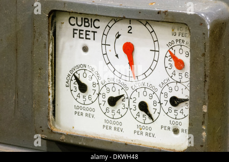how to read gas meter dials