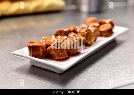 Spanish Chorizo Sausage - Stock Photo