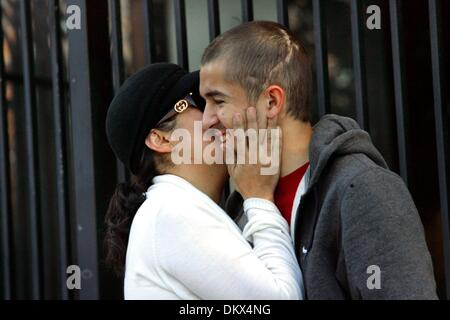 Dec 23, 2009 - San Jose, California - JANE BLEA, left, hugs her son, MATT BLEA during a press conference at Valley - Stock Photo