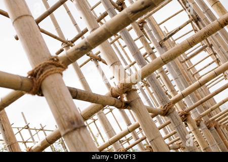 Bamboo scaffolding, IGS, International Garden Show, Wilhelmsburg, Hamburg, Germany - Stock Photo