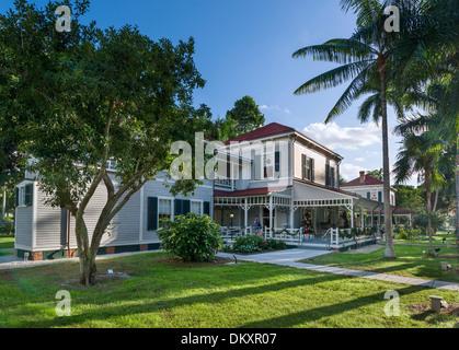 Seminole Lodge, Thomas Edison's winter home, Edison and Ford Winter Estates, Fort Myers, Florida, USA - Stock Photo